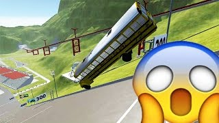 TERRIBLE CRASH OF A SCHOOL BUS !! - BeamNG Drive