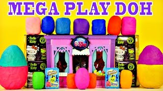mega play doh surprise eggs toys frozen spongebob lps mlp barbie cars shopkins hello kitty superhero