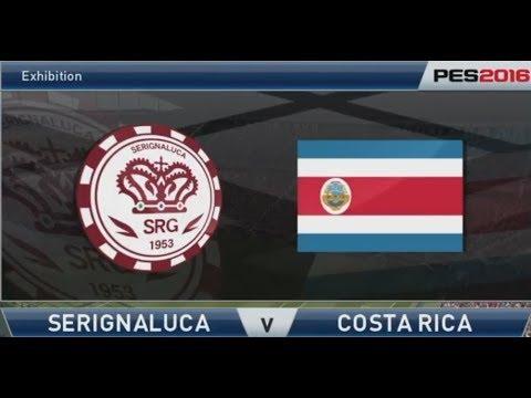Pro Evolution Soccer 2016: Serignaluca (Bencif) v Costa Rica (Mikey58) - Full match