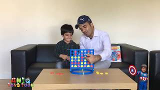 Connect 4 Board Game– Dad vs Son Connect Four Challenge