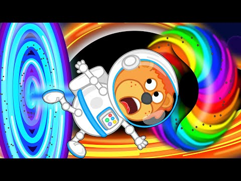 Lion Family Official Channel 🚀 Space Adventures #8. BLACK HOLE & Supernova | Cartoon for Kids |