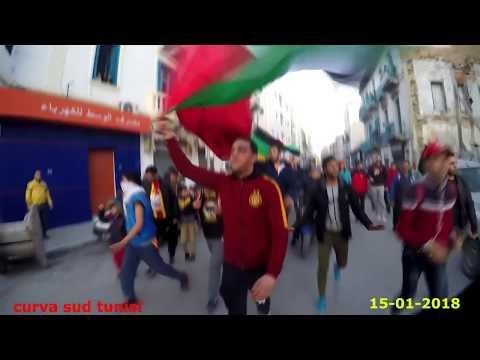 PUBLIC TARAJI FROM PARC B TO BEB SOUIKA [ANNIVERSAIRE L'Espérance Sportive de Tunis 99 Ans]
