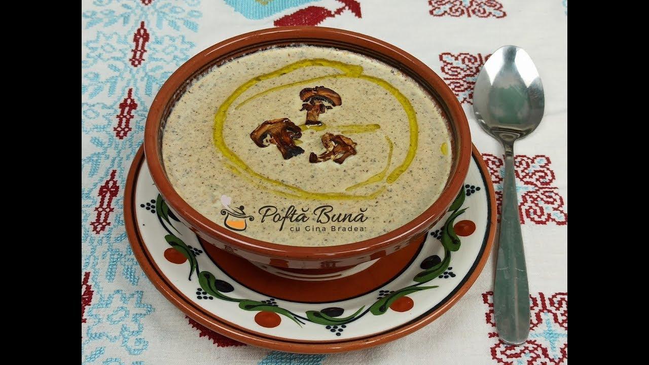 Supa crema de ciuperci - reteta de post sau cu smantana - Gina Bradea