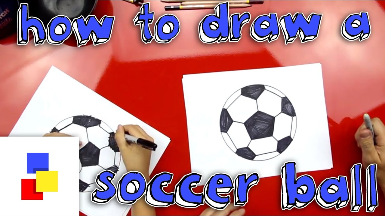 How To Draw A Soccer Ball - YouTube