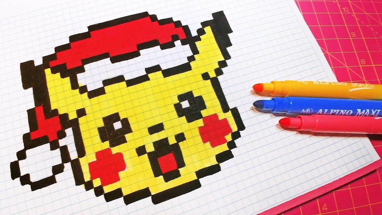 Christmas Pixel Art How To Draw Santa Claus Pikachu Pixelart