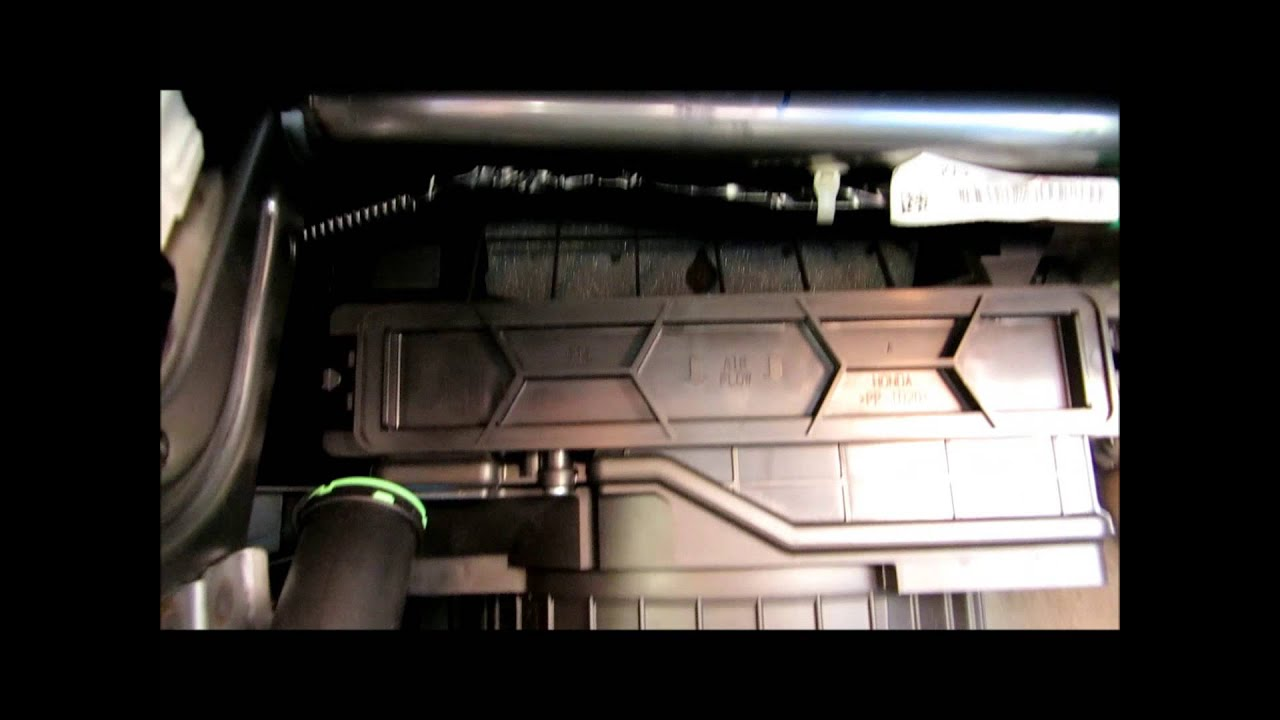 How To Replace Pollen Cabin Air Filter On 2011 2015 Honda Odyssey   YouTube