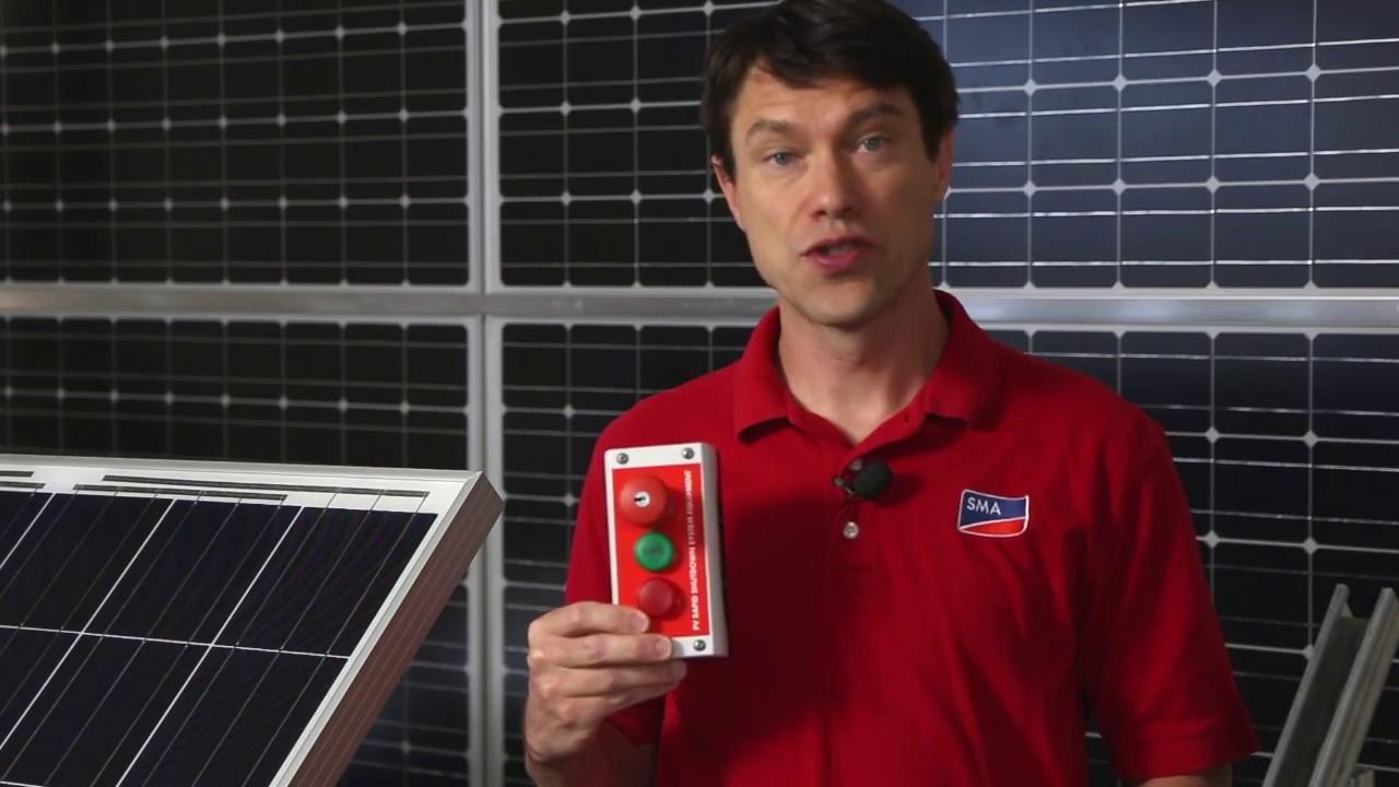 medium resolution of tech tip rapid shutdown system installation sma solar technology