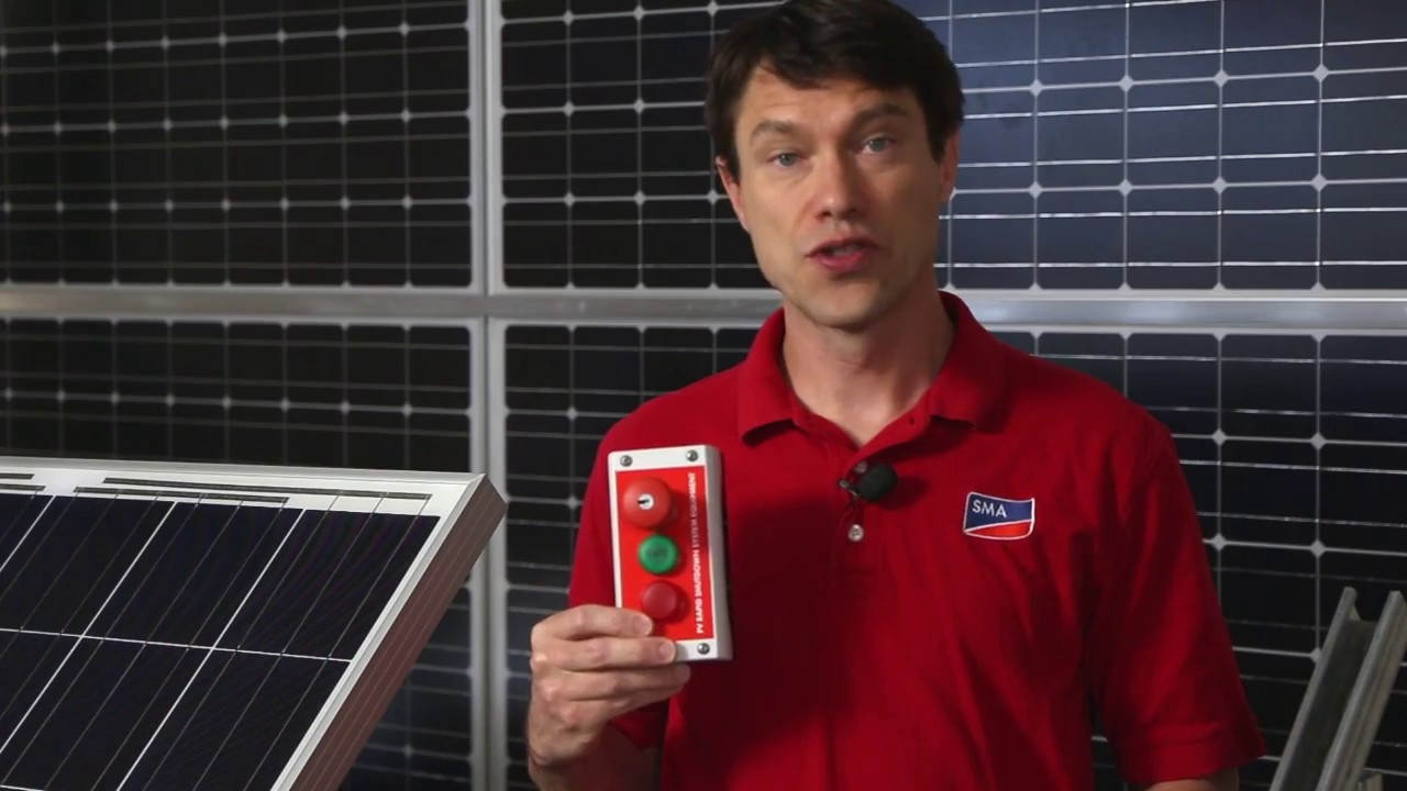 tech tip rapid shutdown system installation sma solar technology [ 1280 x 720 Pixel ]