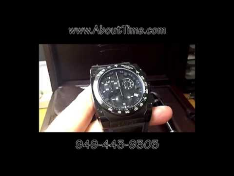 Savoy Icon Extreme Sport Chronograph BLACK OUT Watch From About Time Watch Company