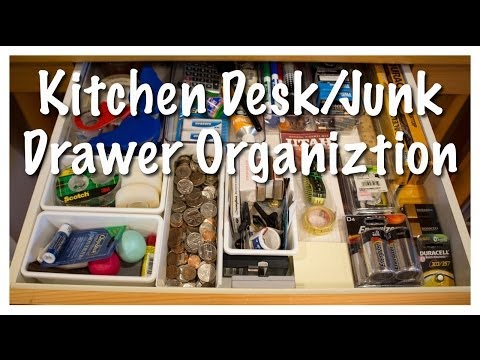 Kitchen Desk/Junk Drawer Organization (Kitchen Series 2013)