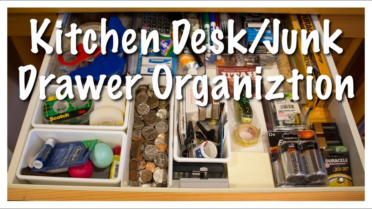 Kitchen Drawer Organizing Kitchen Desk Junk Drawer Organization Kitchen Series 2013 Youtube