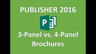 Publisher 2016 - Brochures - How to Make a Brochure in Publisher - Tutorial on Microsoft Office 365