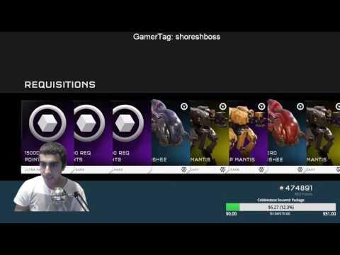 Halo 5 Opening Mechanized Mayhem Req Pack ( 720 000 Req Points )