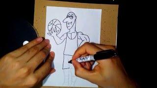 How to draw a basketball Player - como dibujar a un  jugador de Baloncesto