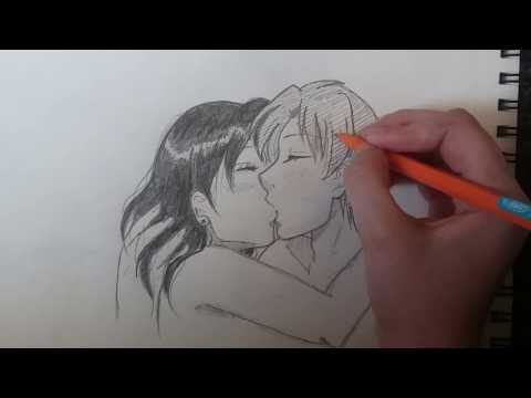 How To Draw An Anime Couple Kissing  (Step By Step Tutorial)