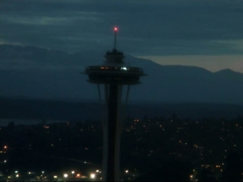 Raw: Space Needle Goes Dark For Chris Cornell