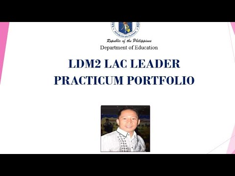 Download LDM2 LAC LEADER PRACTICUM PORTFOLIO