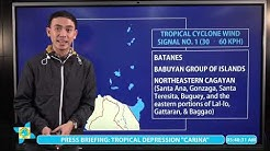 """Press Briefing: Tropical Depression """"#CarinaPH"""" Update Monday 5AM, July 13, 2020"""