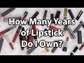 How Many Years of Lipstick do I Own? Lipstick Makeup Collection #TMOTuesday   CORRIE SIDE
