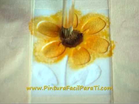 pintura de flores pintura en tela pintura facil para tiwmv