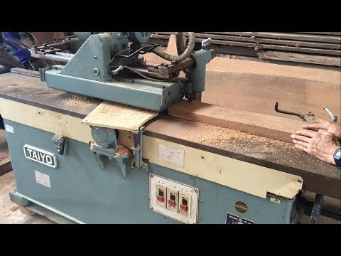 Amazing Woodworking Machines - Automatic Surface Planer Japanese Produced In 1988, Wood Work
