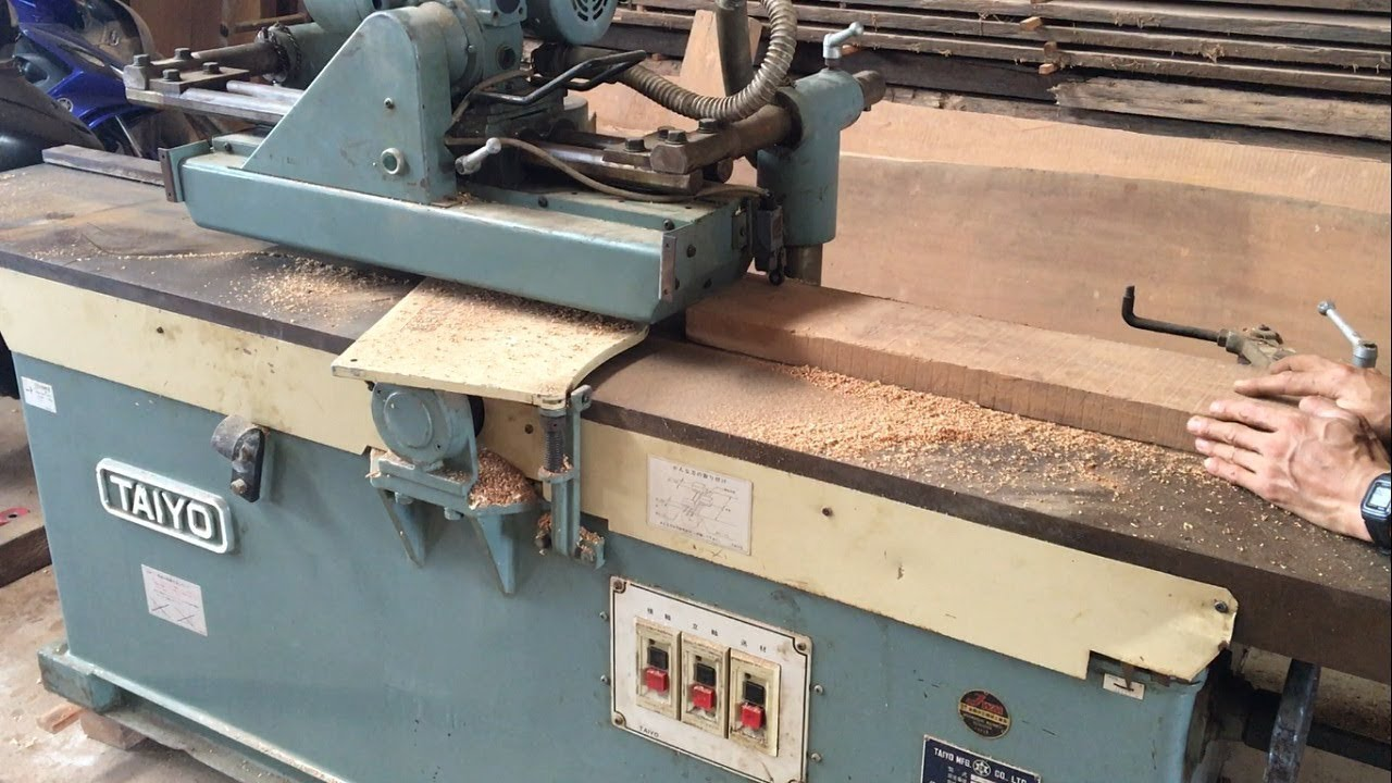Amazing Woodworking Machines Automatic Surface Planer Japanese Produced In 1988 Wood Work