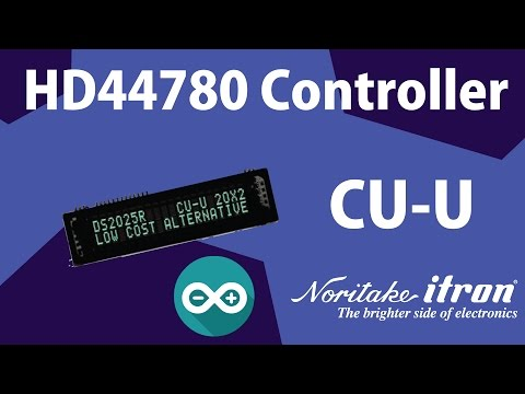 Noritake BC-VFD: 20x2 DS2025R Chip-in HD44780 Controller - Arduino SPI (3-wire) Interface