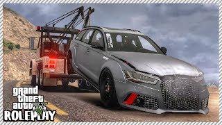 GTA 5 ROLEPLAY - Junkyard Rescue! Audi RS6 Avant | Ep. 380 Civ