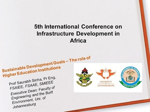 Keynote, 11 July 2016, 5th International Conference on Infrastructure Development in Africa