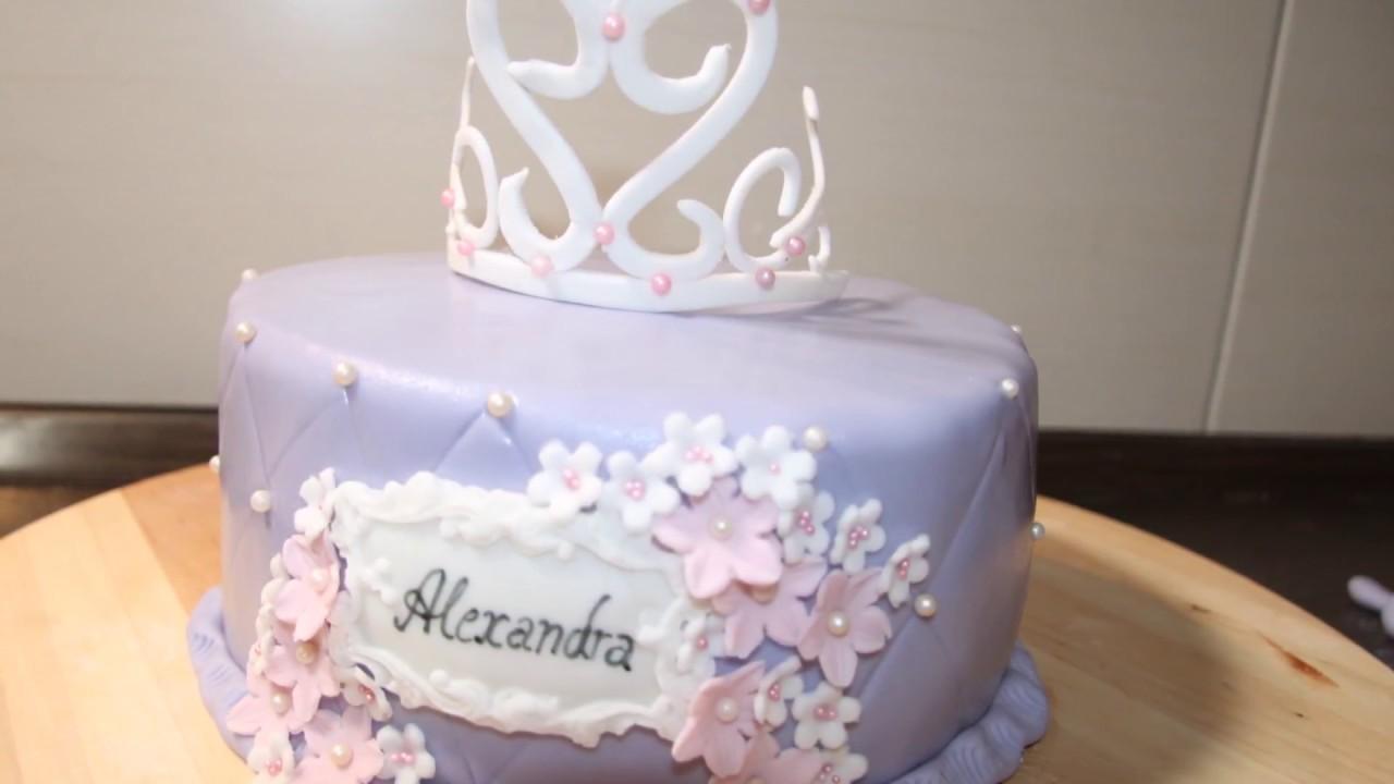 Prinzessin Torte Teil 2 Motivtorte Anfangerfreundlich