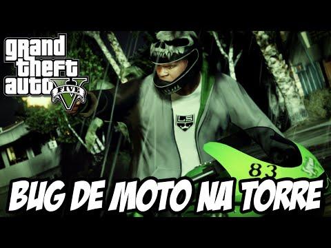 GTA V - Bug da torre Eclipse atravessando com a moto