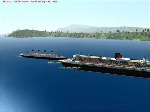 RMS Titanic & RMS Queen Mary 2 Horn Battle - Virtual Sailor 7