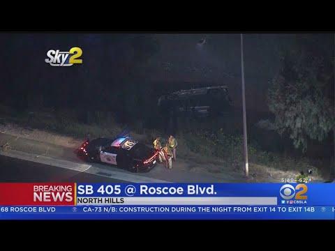 Rollover Crash Kills Person Living On 405 Freeway Embankment