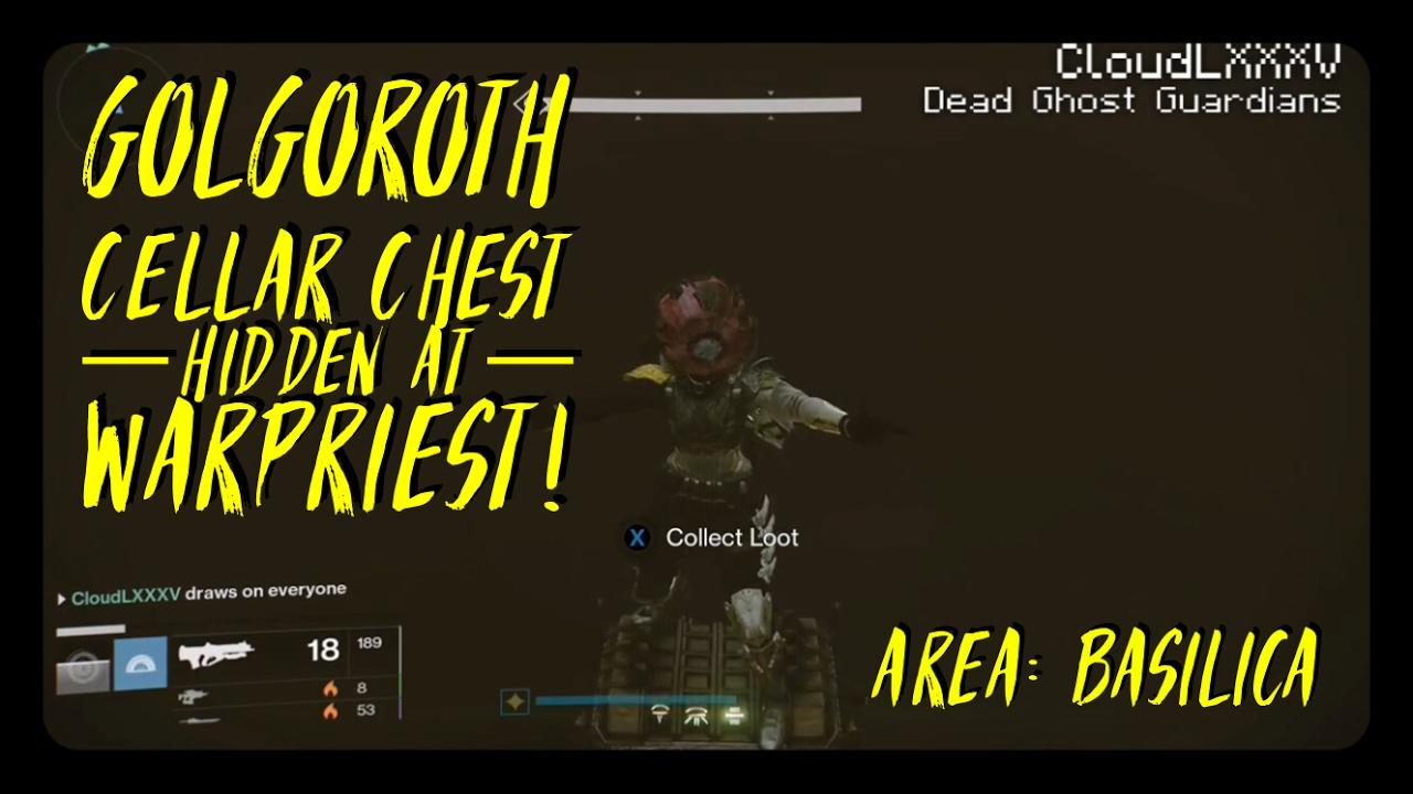 Destiny Glitches Open The Golgoroth Cellar Chest Hidden At