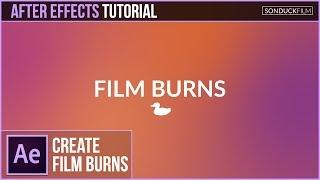 After Effects Tutorial: Farbverlauf FILM BRENNEN Animation