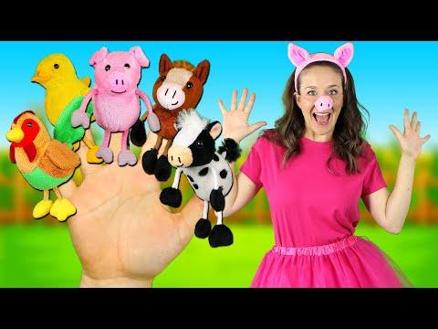 Farm Animals Finger Family - Kids Songs And Nursery Rhymes | Finger Family Song For Kids
