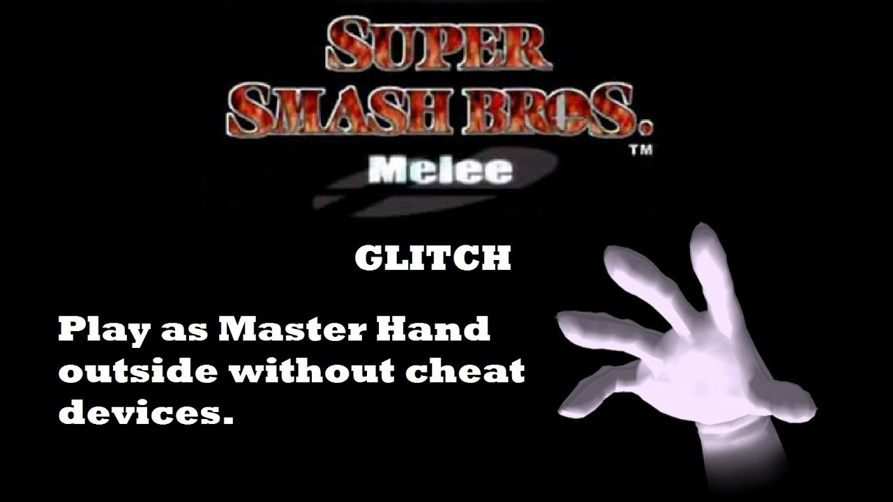 How to Play as Master Hand on Smash Brothers Melee - YouTube
