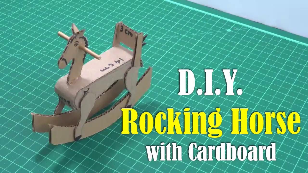 Diy Rocking Horse With Cardboard Youtube