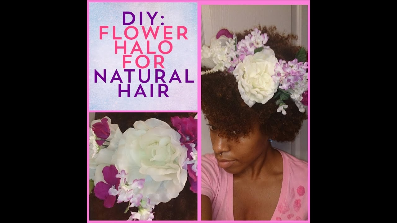 Diy Flower Crown Halo For Natural Hair Eugenia Says Youtube