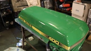 John Deere 400 Garden Tractor Restoration Sneak Peak Preview