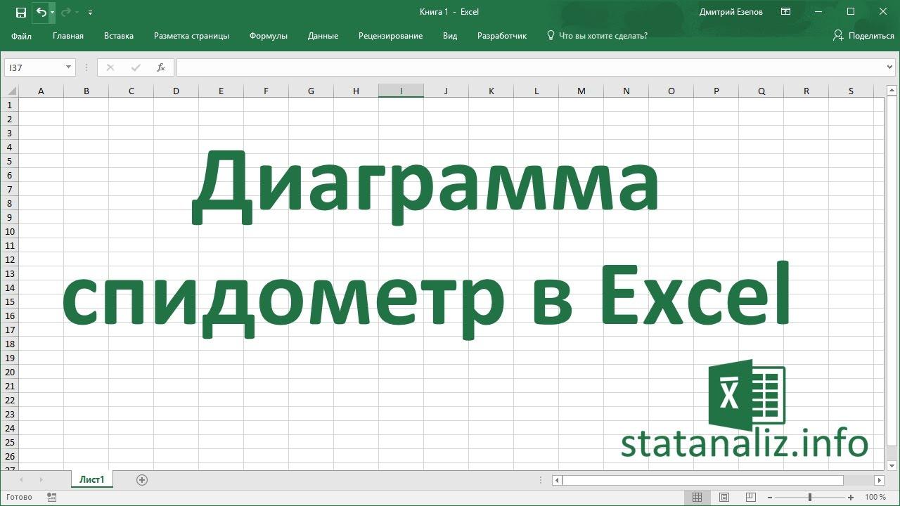 Как построить диаграмму спидометр в Excel?