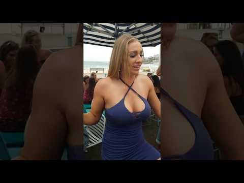 Australian Stripper Girl Big Jugs Shows How To Drink A