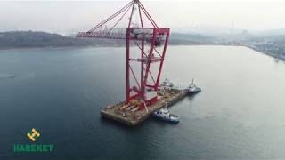 2000 tons STS  crane installation and transportation