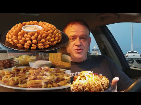 Outback Steakhouse ☆LOADED BLOOMIN' ONION☆ Food Review!!!