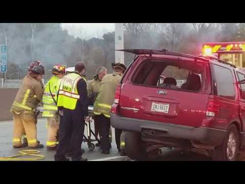 US XPRESS TRUCK/SUV DASH CAM HEAD ON CRASH