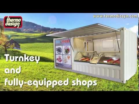 Container Type Of Mobile Shops For Butchery And Fishery