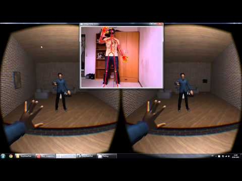 VR Living Room (Kinect + Leap Motion + Oculus Rift)