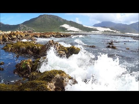 1 hour gentle ocean waves HD video - high quality stereo ocean sounds
