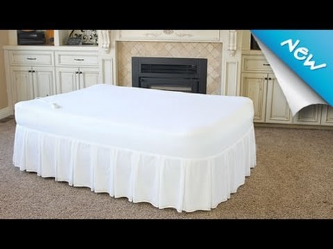 Fox Air Beds Signature Memory Foam Air Mattress With Protective Cover And Bed Skirt Youtube