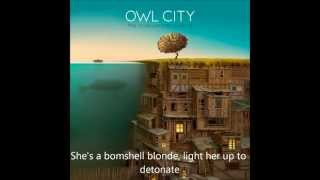 Owl City - Bombshell Blonde (lyrics)